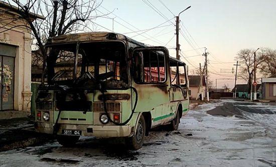 На Одещині згорів автобус Нацгвардії
