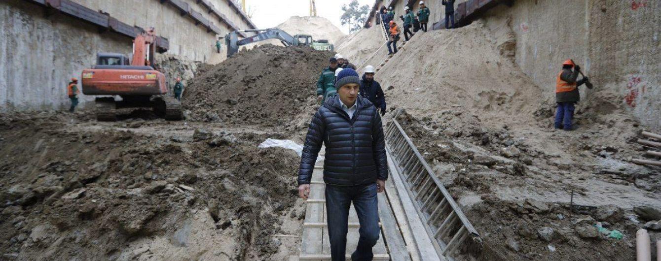 Кличко заверил, что метро на Виноградарь будет построено вовремя