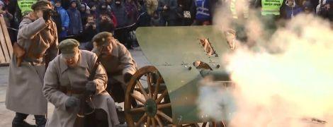 Энтузиасты восстановили на улицах Киева события январского восстания 1918 года