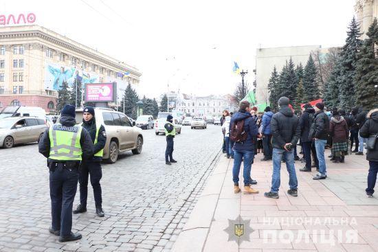 Поліція відкрила два провадження після сутичок на проросійському мітингу в Харкові