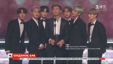 Гурт BTS виступив на престижній музичній церемонії Grammy