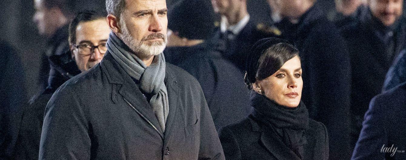 Королевы в черном: Летиция, Максима и Матильда с мужьями посетили памятное мероприятие в Польше