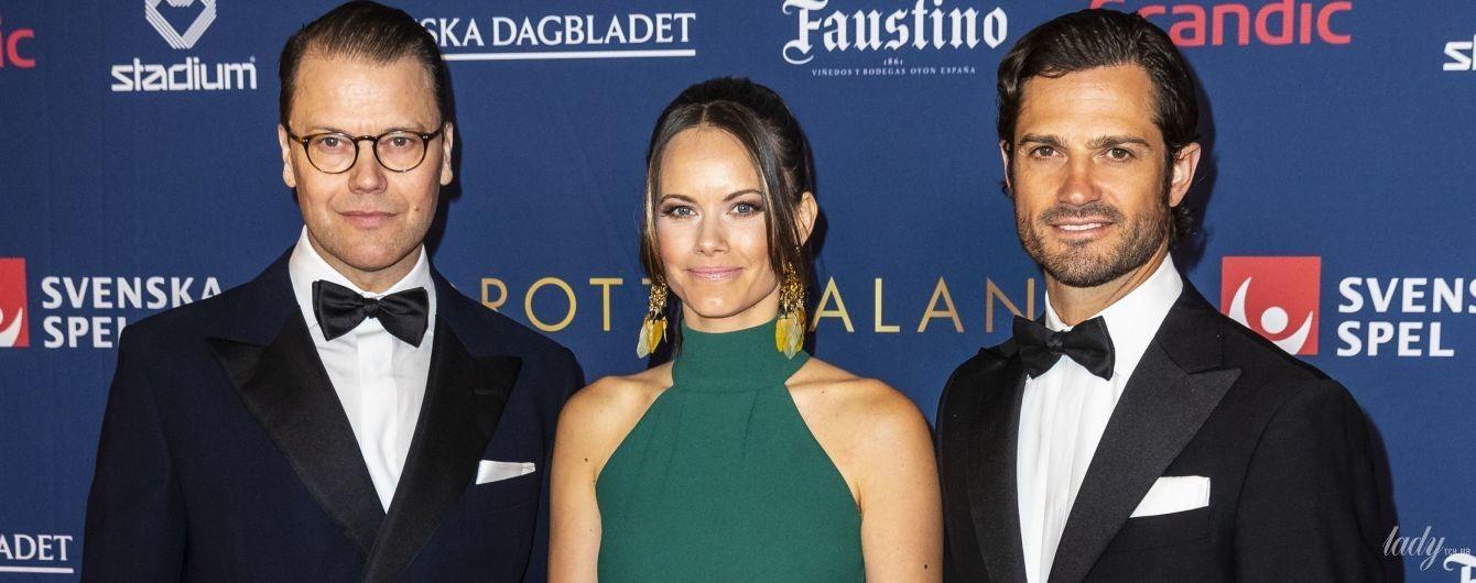 В старом платье, но с новыми аксессуарами: шведская принцесса София блистала на красной дорожке