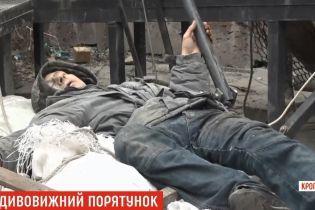 В Кропивницком рабочий упал с девятиэтажного дома и выжил