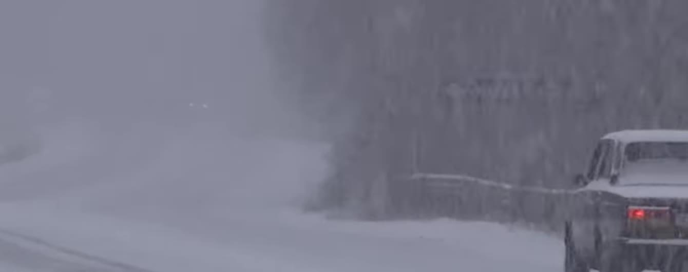 Житомирщину засыпает обильным снегом: за два часа выпало до пяти сантиметров