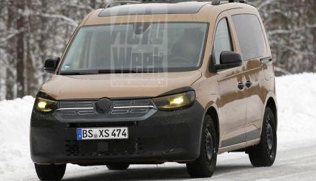 Автошпионы засняли новый Volkswagen Caddy на тестах