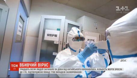 38 людей загинуло за добу від китайського коронавіруса
