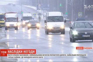 Львів засніжило: містяни вітають одне одного із першим снігом наприкінці січня