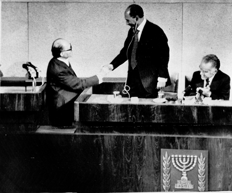 Садат виступає у парламенті Ізраїлю