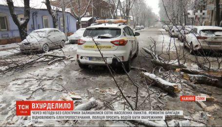Негода знеструмила 269 населених пунктів на Сумщині