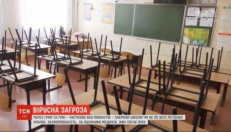 Из-за гриппа и ОРВИ частично или полностью закрыли школы едва ли не во всех регионах страны