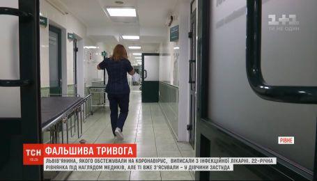 Подозрения не подтвердились: у 22-летней жительницы Ровно не выявили коронавируса