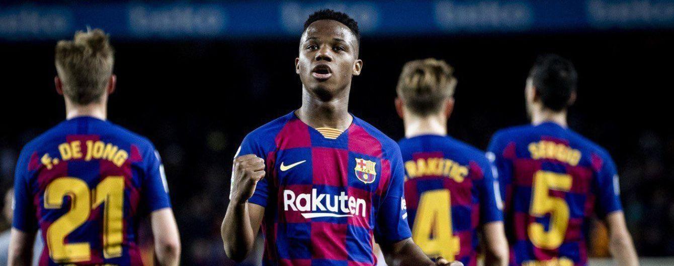 """""""Барселона"""" за сто секунд выиграла матч Примеры благодаря дублю 17-летнего вундеркинда"""