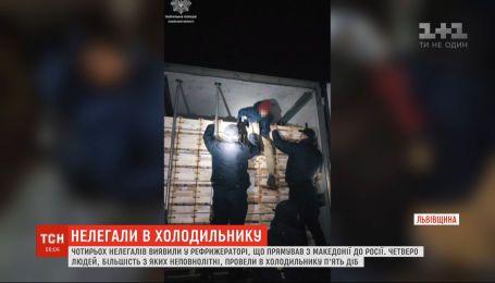Нелегалів, які ледь не загинули у холодильнику з яблуками, виявили на Львівщині