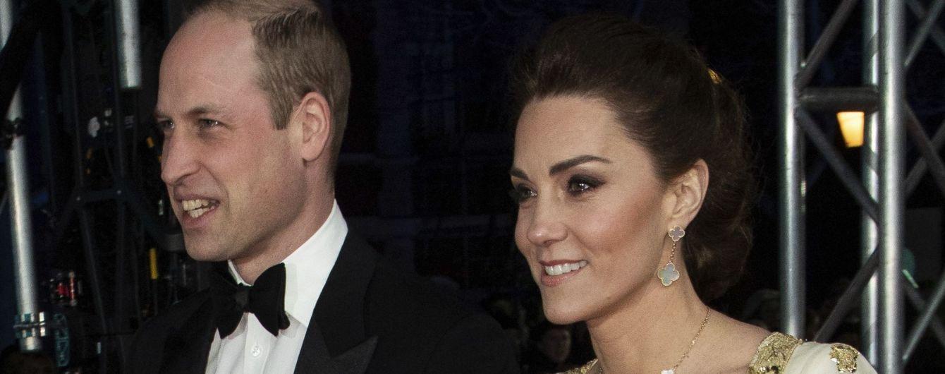 Принц Уильям и Кейт в роскошном платье восьмилетней давности стали гостями премии BAFTA-2020