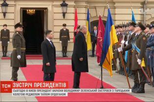Президент Туреччини прибув з офіційним візитом до Києва