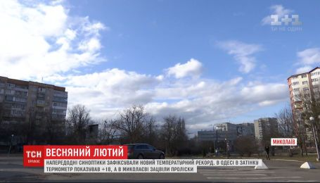 Весенний февраль: в Украине зафиксировали новый температурный рекорд