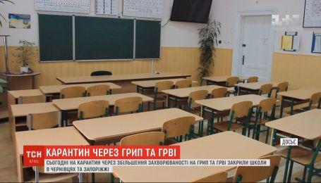 Школы в Черновцах и Запорожье закрыли на карантин из-за гриппа и ОРВИ