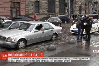 Правоохранители задержали мужчину, который жег шины возле СИЗО во Львове