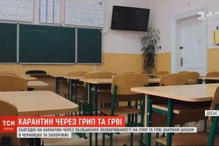 Через збільшення захворюваності на грип та ОРВІ закрили школи в Чернівцях та Запоріжжі