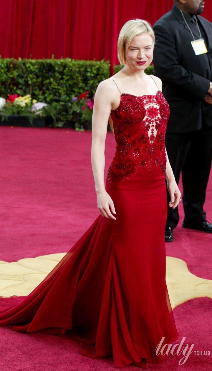 Рене Зеллвегер в платье Carolina Herrera на 75 церемонии