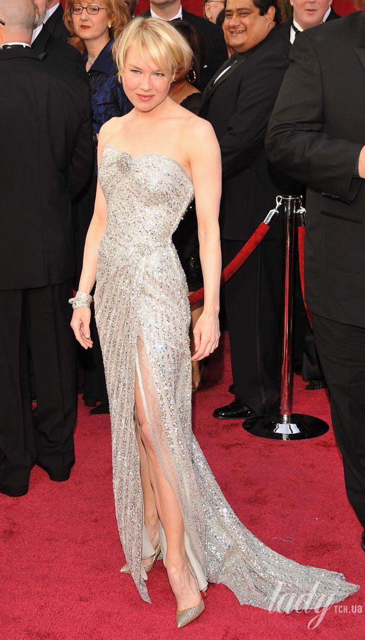 Рене Зеллвегер в платье Carolina Herrera на 80 церемонии