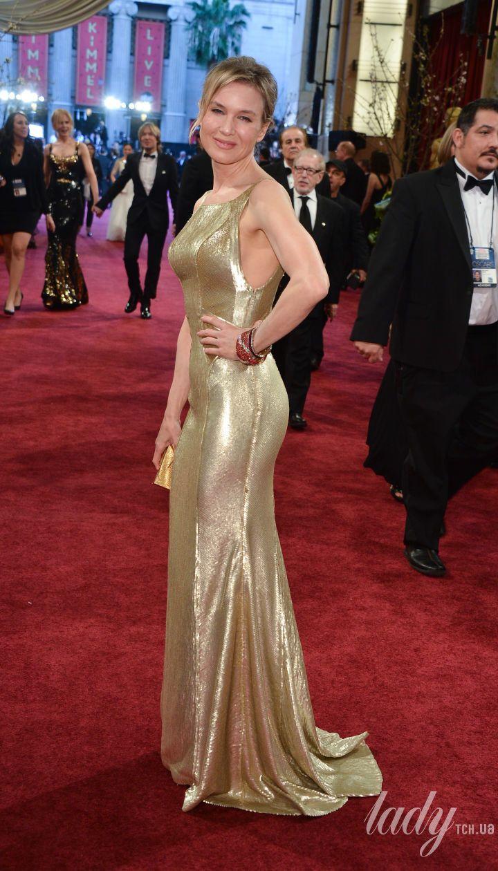 Рене Зеллвегер в платье Carolina Herrera на 85 церемонии