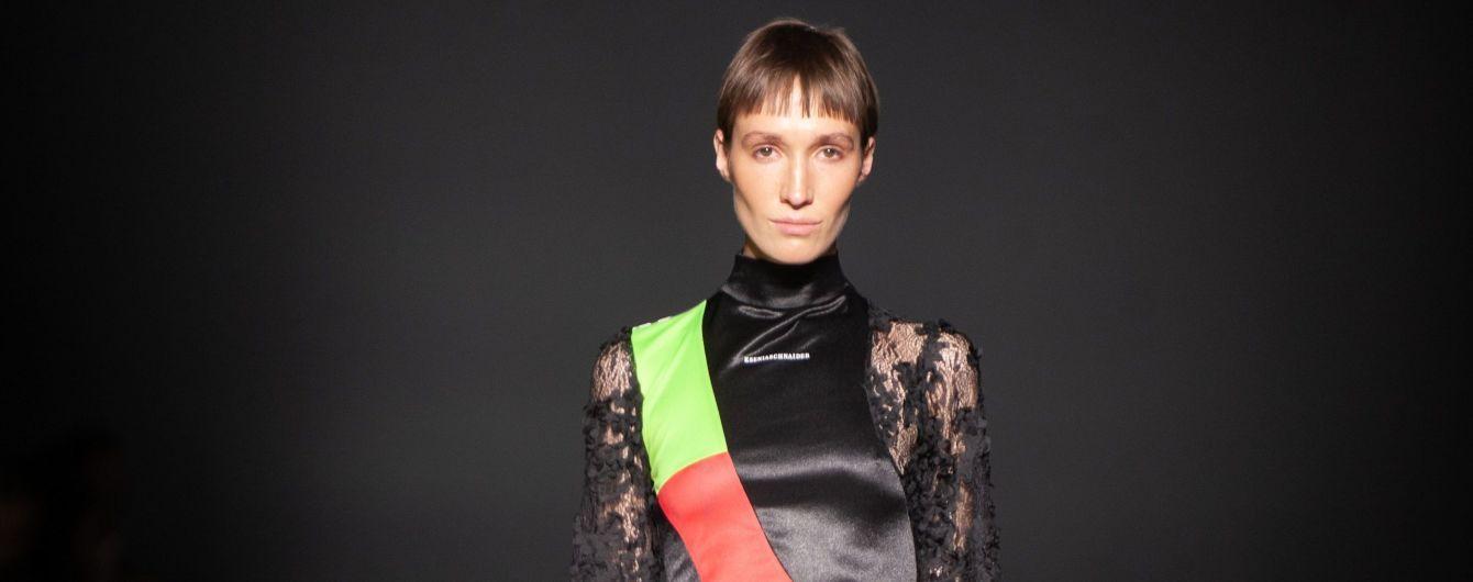 UFW: платья из спортивных костюмов и джинсовые вещи в стиле пэчворк в коллекции KSENIASCHNAIDER