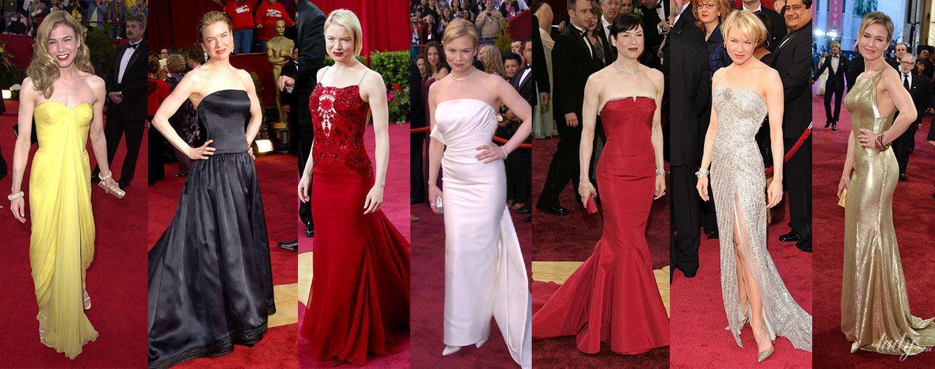 """Сукня на червоний хідник: 7 найкращих образів Рене Зеллвегер на церемонії """"Оскар"""""""