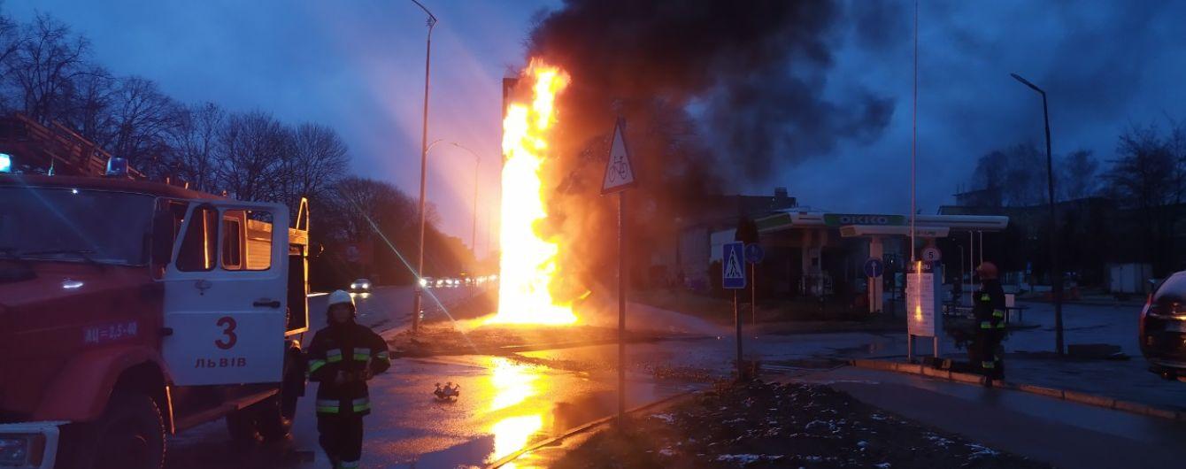 "Во Львове произошел пожар на заправке ""ОККО"""