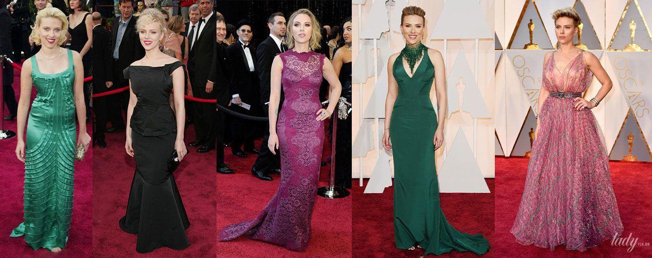 "Dolce&Gabbana, Versace и Alaia: какие платья Скарлетт Йоханссон надевала на ""Оскар"""