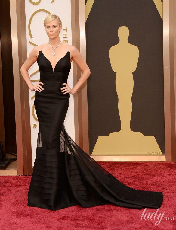 "Шарлиз Терон на 86 церемонии ""Оскара"" в платье Christian Dior, 2014"