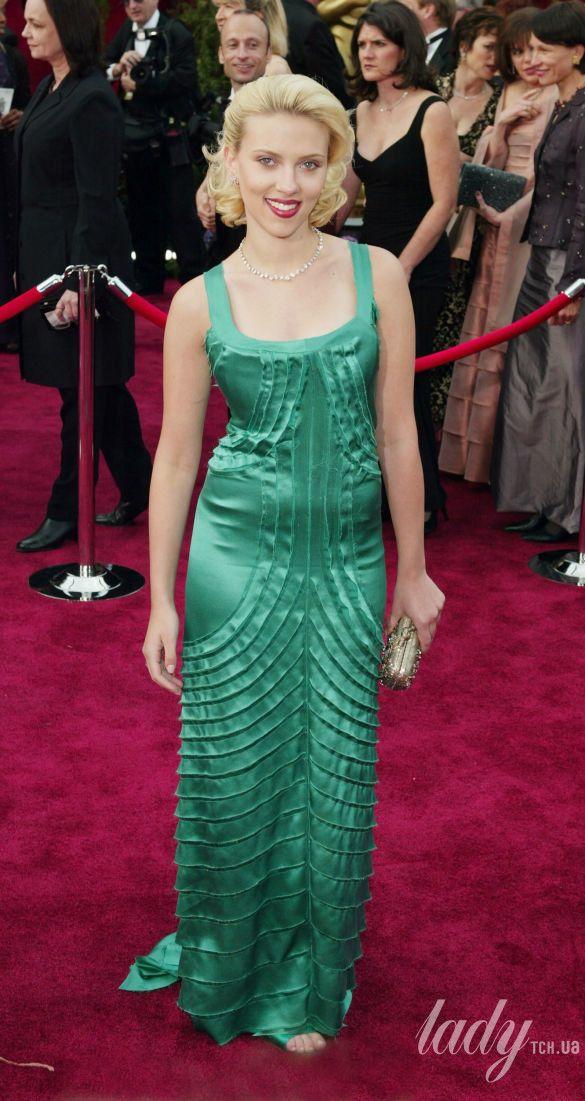 "Скарлетт Йоханссон на 76 церемонии ""Оскара"" в платье Alberta Ferretti, 2004"