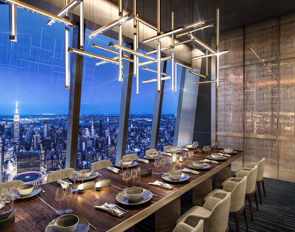 ресторан Peak Нью-Йорк
