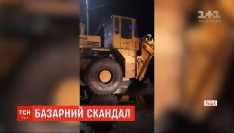 Три человека получили травмы во время сноса рынка в Луцке