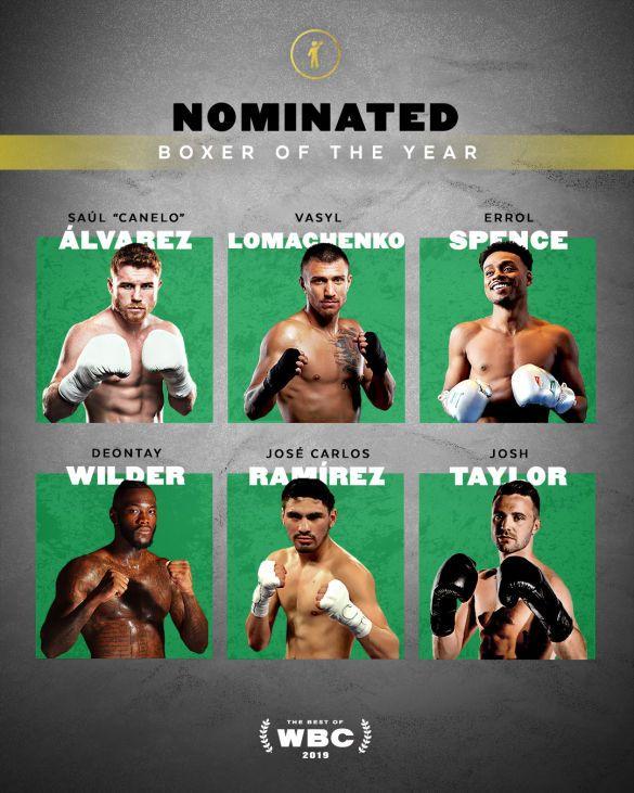 Ломаченко номінований на звання боксер 2019 від WBC