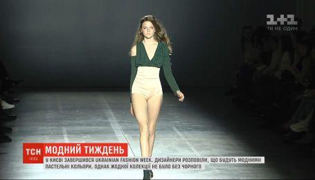 Обувь без каблуков и экокожа: ТСН подвела итоги украинской недели моды