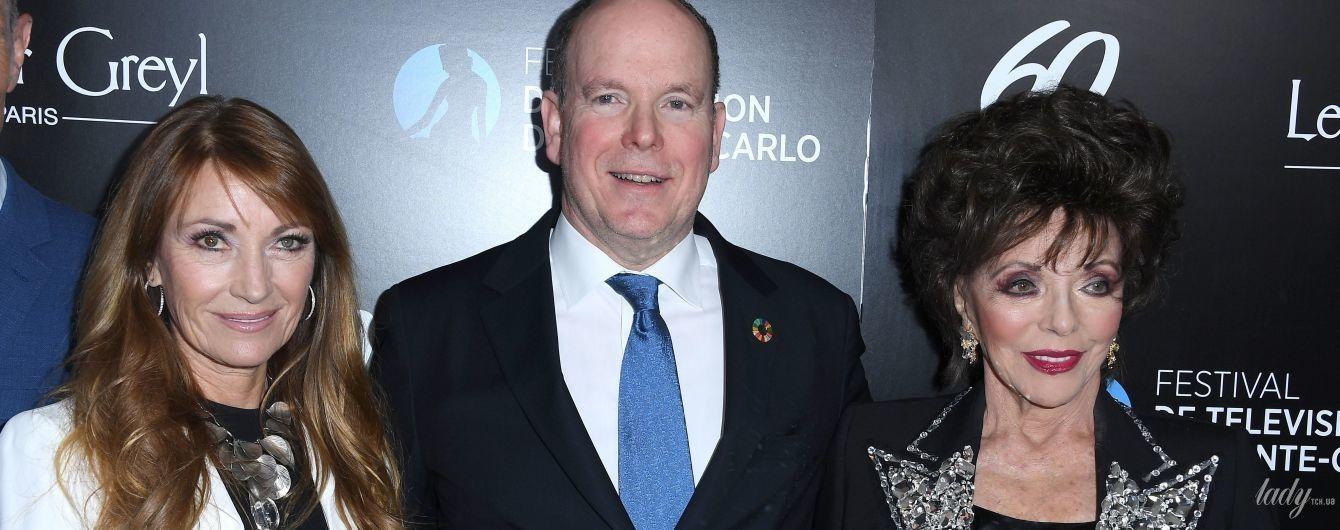 В обнимку со знаменитыми британками: князь Монако Альбер II повеселился на вечеринке в Голливуде