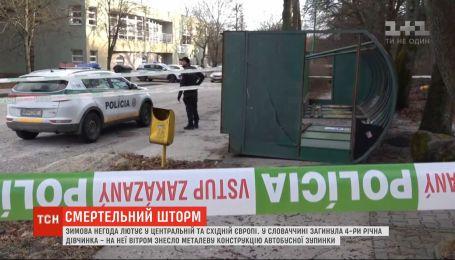 У Словаччині від зимової негоди загинула 4-річна дівчинка