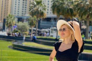 Ірина Федишин у коротких шортиках показала, як відпочиває в Дубаї
