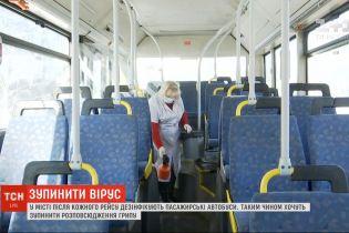 У Дніпрі після кожного рейсу дезінфікують пасажирські автобуси
