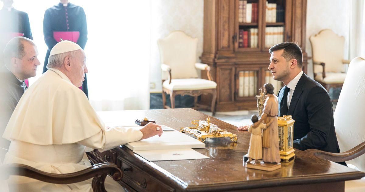 Зеленский в Ватикане встретился с Папой Римским @ Офис Президента Украины