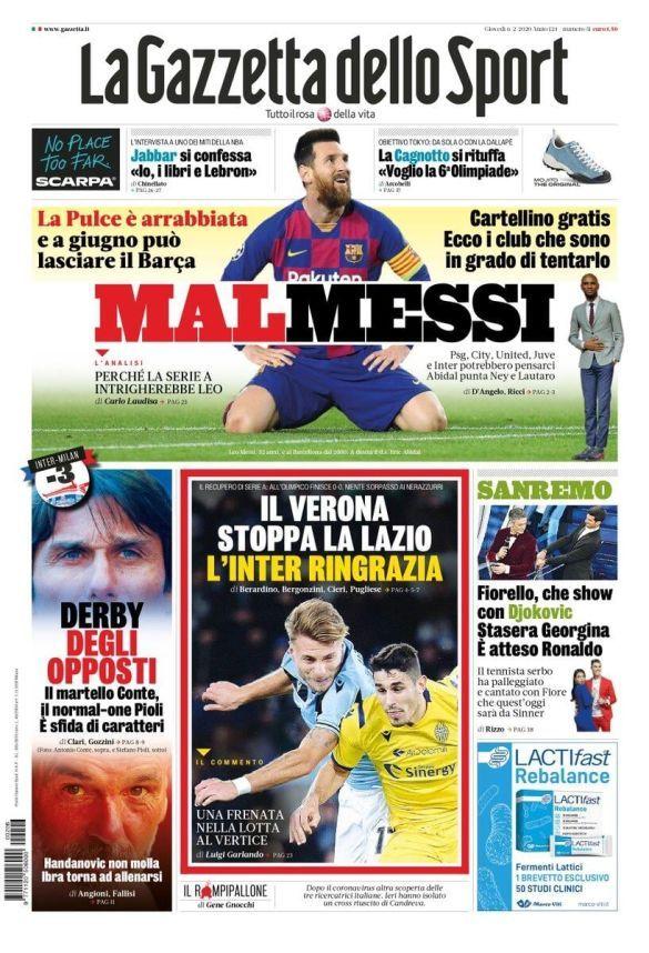 Мессі La Gazzetta dello Sport