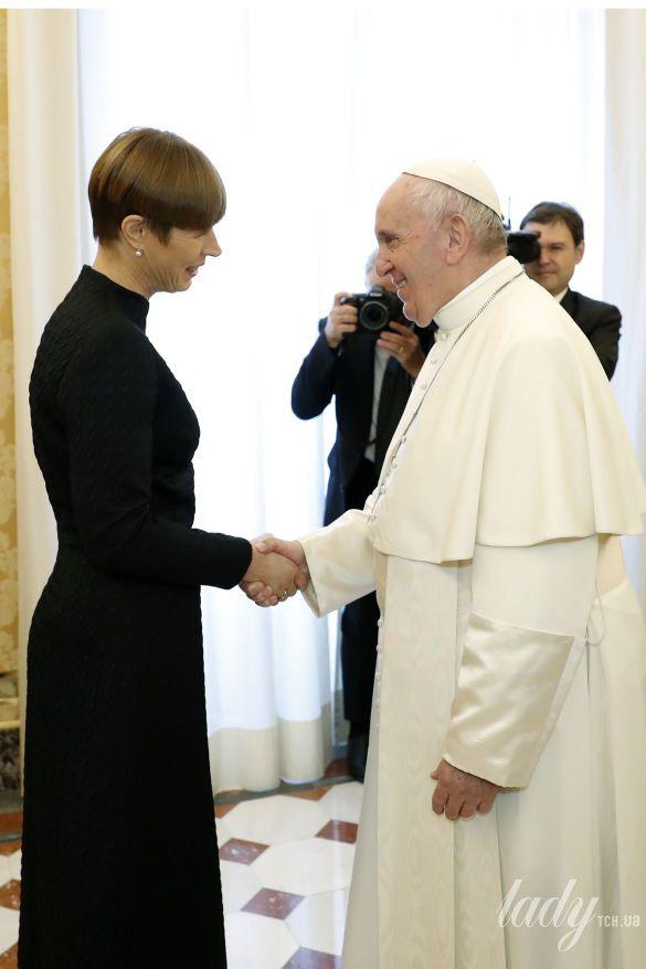 Президент Эстонии Керсти Кальюлайд на встрече у Папы Римского Франциска