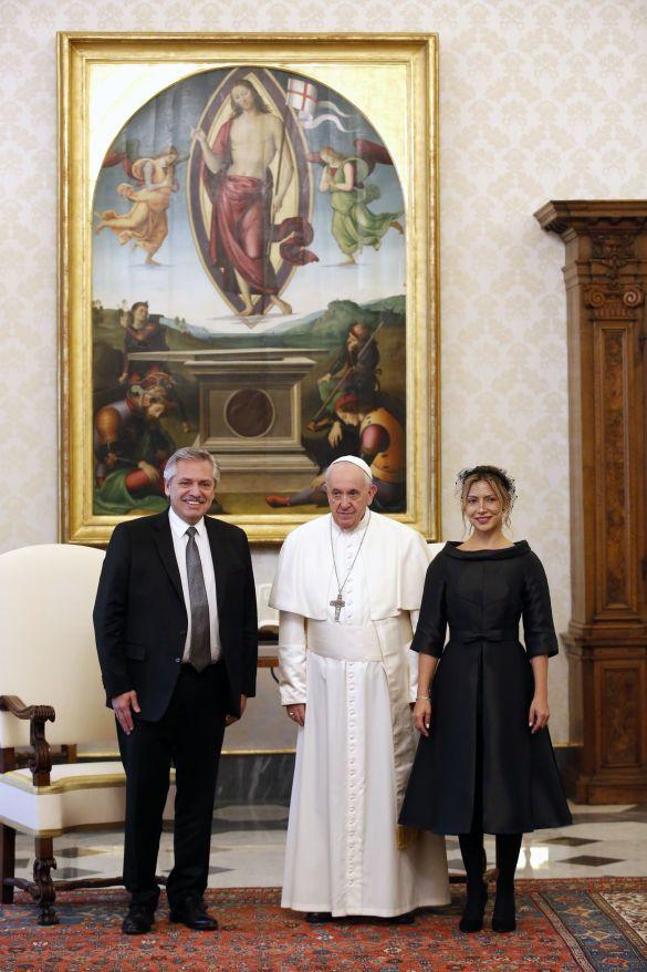 Президент Аргентины Альберто Фернандес со своей девушкой Фабиолой Янез