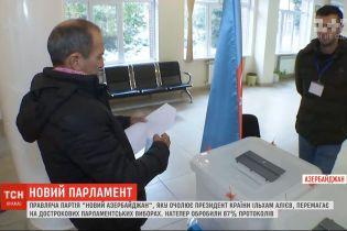 На дострокових парламентських виборах в Азербайджані перемагає провладна партія