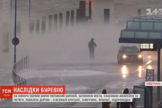 6 людей стали жертвами потужного буревію, що лютує в Європі