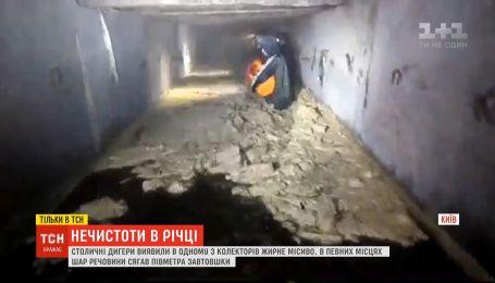 В киевском водоеме Сырец диггеры обнаружили значительное количество нечистот
