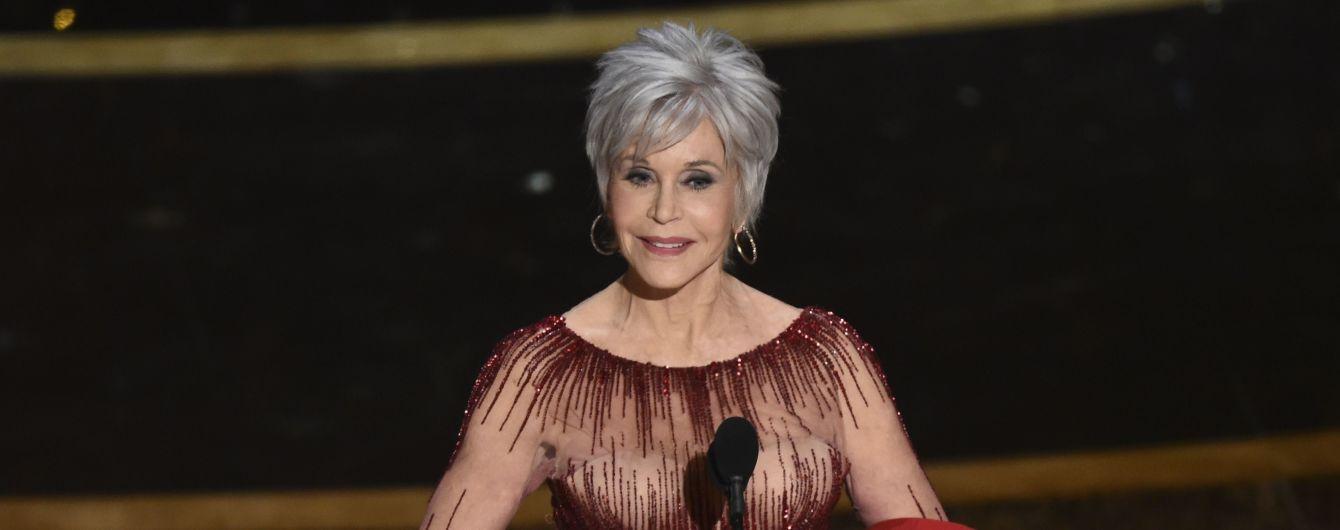 """82-річна Джейн Фонда на церемонії """"Оскар-2020"""" повторила свій образ шестирічної давнини"""