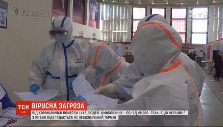 Кількість померлих від китайського коронавірусу зросла до 1115 осіб